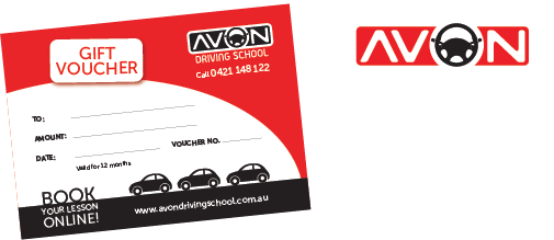 Avon Driving School gift vouchers now available